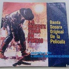 Discos de vinilo: LA MUERTE TENIA UN PRECIO - BSO, ENNIO MORRICONE. Lote 94552031