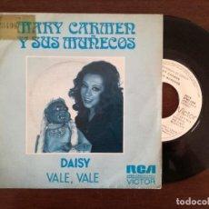 Discos de vinilo: MARY CARMEN Y SUS MUÑECOS - DAISY, VALE + RODOLFO, BANANAS, COCOS (RCA) SINGLE PROMOCIONAL. Lote 94572751
