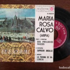 Discos de vinilo: MARIA ROSA CALVO, DOS PRELUDIOS VASCOS + CAPRICHO ANDALUZ + PAVANA VALENCIA (RCA 1964) SINGLE EP. Lote 94575787