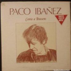 Disques de vinyle: PACO IBAÑEZ: CANTA A BRASSENS. Lote 94588275
