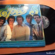 Discos de vinilo: LP EPIC 5 VARIOS ARTISTAS PECOS ,JULIO IGLESIAS , ROBERTO CARLOS .ETC. Lote 94595855