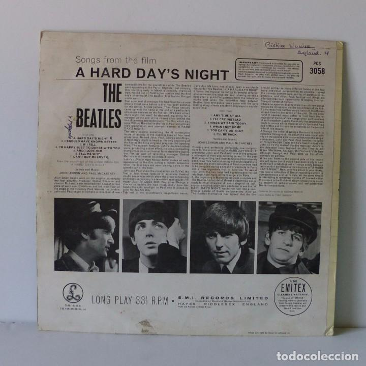 Discos de vinilo: BEATLES - A HARD DAY'S NIGHT LP AÑO 1964 MADE IN UK SELLO PARLOPHONE LABEL NEGRO - Foto 2 - 94596983