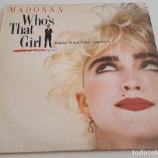 Discos de vinil: VINILO LP , MADONNA , WHOS THAT GIRL. Lote 94600735
