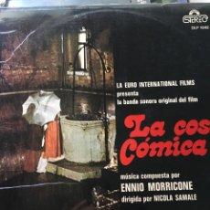 Discos de vinilo: ENNIO MORRICONE-LA COSA COMICA B.S.O-1973-NUEVO. Lote 94621530