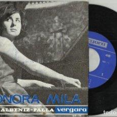 Discos de vinilo: LEONORA MILA. EP CHOPIN-ALBENIZ-.FALLA.- 1964. Lote 94622175