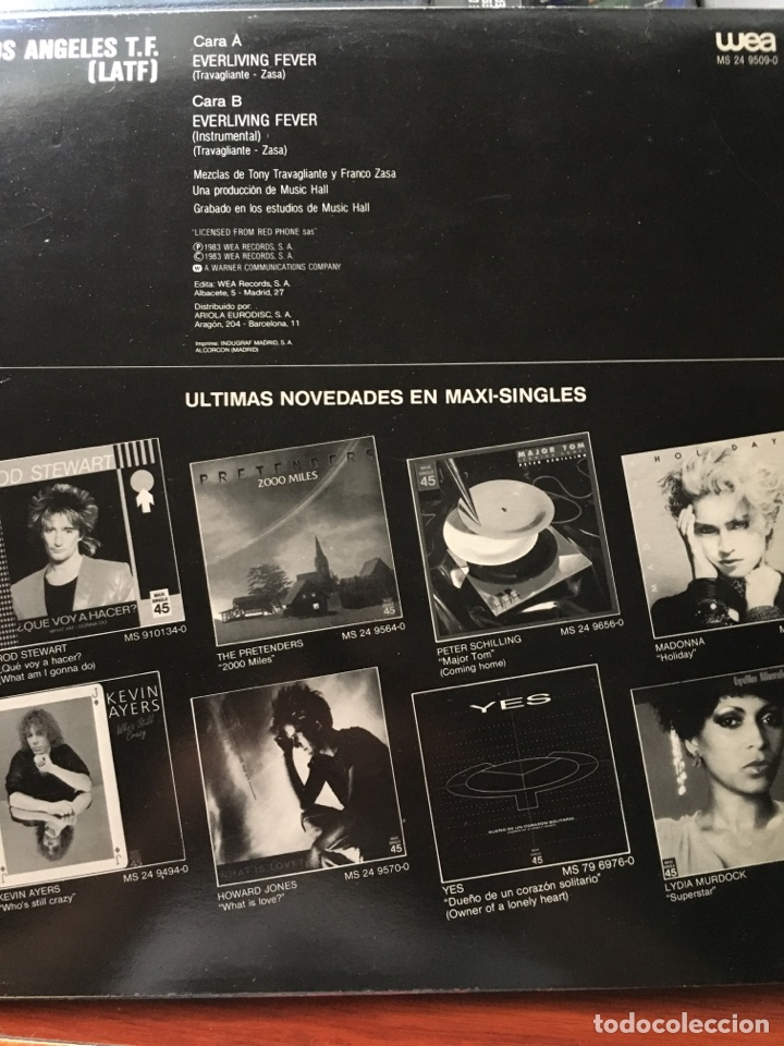 Discos de vinilo: LOS ANGELES T.F-LATF-EVERLIVING FEVER-1983-NUEVO - Foto 2 - 94622704