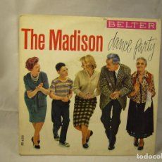 Discos de vinilo: THE TUNETOPPERS - THE MADISON DANCE PARTY *** EP BELTER 1962. Lote 94640211