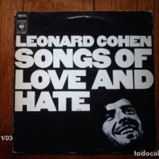 Discos de vinilo: LEONARD COHEN - SONGS OF LOVE AND HATE . Lote 94656351