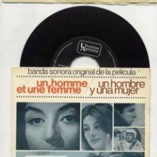 Discos de vinilo: UN HOMBRE Y UNA MUJER EP BSO 1966. Lote 94667803