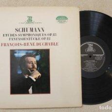 Discos de vinilo: FRANCOIS-RENE DUCHABLE SCHUMANN LP VINILO MADE IN FRANCE 1983. Lote 94670351