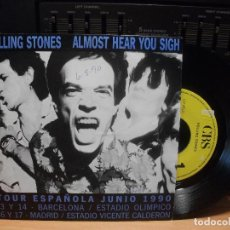 Discos de vinilo: THE ROLLING STONES ALMOST HEAR YOU SIGH SINGLE SPAIN 1990 PDELUXE. Lote 94681543