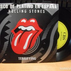 Discos de vinilo: THE ROLLING STONES TERRIFYING SINGLE SPAIN 1989 PDELUXE. Lote 94681695