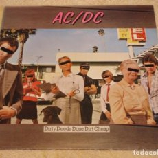 Discos de vinilo: AC DC ( DIRTY DEEDS DONE DIRT CHEAP ) ENGLAND-1976 LP33 ATLANTIC. Lote 94682623