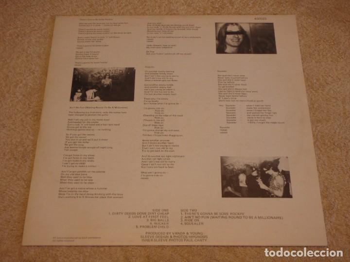 Discos de vinilo: AC/DC – Dirty Deeds Done Dirt Cheap, UK 1976 Atlantic - Foto 3 - 94682623