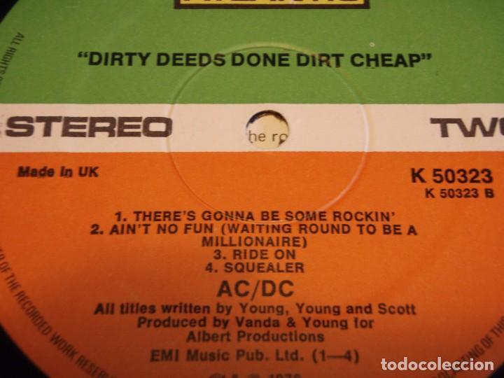 Discos de vinilo: AC/DC – Dirty Deeds Done Dirt Cheap, UK 1976 Atlantic - Foto 6 - 94682623