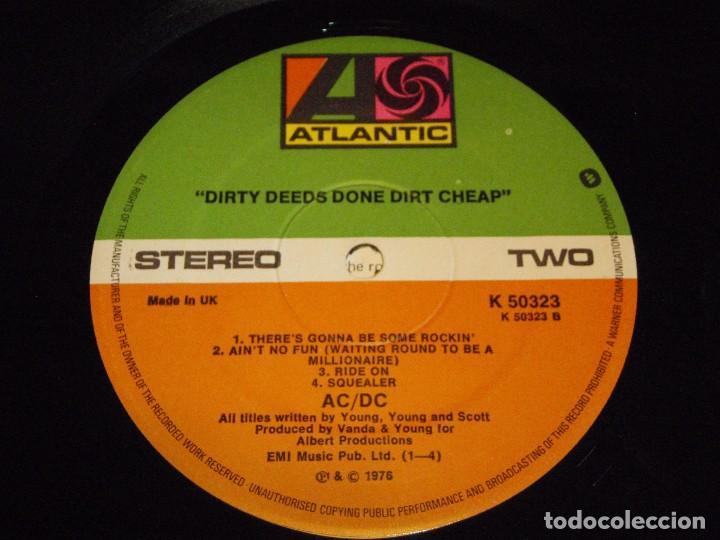 Discos de vinilo: AC/DC – Dirty Deeds Done Dirt Cheap, UK 1976 Atlantic - Foto 7 - 94682623