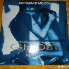 Discos de vinilo: GHOST. ORIGINAL MOTION PICTURE. MAURICE JARRE. MAXI-SINGLE 1991. EDICION ITALIANA. IMPECABLE. Lote 94685495