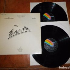 Discos de vinilo: EVITA ANDREW LLOYD WEBBER TIM RICE DOBLE LP VINILO AÑO 1976 ESPAÑA OPERA BASADA EN EVA PERON 2 LP. Lote 94686303