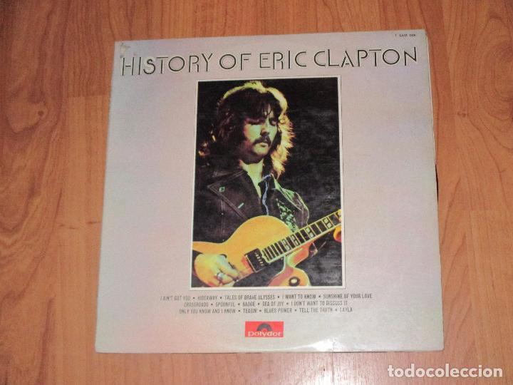 ERIC CLAPTON - HISTORY OF - POLYDOR - SPAIN - DOBLE LP - T - (Música - Discos - LP Vinilo - Pop - Rock - Extranjero de los 70)