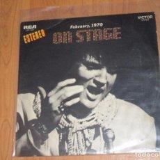 Discos de vinilo: ELVIS PRESLEY - ON STAGE FEBRUARY 1970 - RCA - SPAIN - T - . Lote 94688203