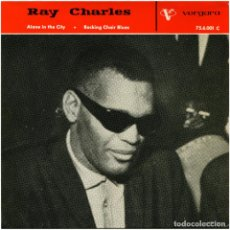Discos de vinilo: RAY CHARLES, LOWELL FULSON, LINDA HAYES - EP SPAIN 1963 - ROCKING CHAIR BLUES - VERGARA 75.6.001 C. Lote 94694499