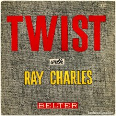 Discos de vinilo: RAY CHARLES ?– TWIST WITH RAY CHARLES - EP SPAIN 1962 - BELTER ?50.531 . Lote 94694967