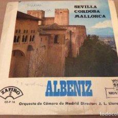 Discos de vinilo: ALBÉNIZ - SEVILLA / CÓRDOBA / MALLORCA - EP MONTILLA 1964. Lote 94697227