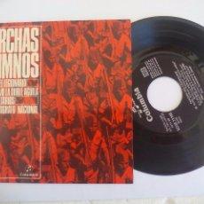 Discos de vinilo: MARCHAS E HIMNOS. CANCION DEL LEGIONARIO,..,1959.BANDA DE MÚSICA ACADEMIA AUXILIAR MILITAR.SINGLE. Lote 94727391