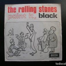 Discos de vinilo: THE ROLLING STONES.PAINT IT, BLACK.-LONG LONG WHILE.SINGLE DECCA ME 262.AÑO 1966.. Lote 94755515