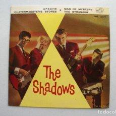 Discos de vinilo: THE SHADOWS.APACHE + 3.EP LA VOZ DE SU AMO 7EPL 13.569.AÑO 1961.. Lote 94757211
