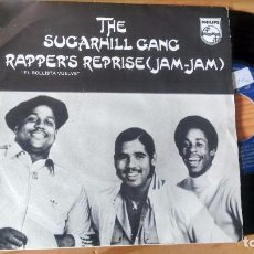 Discos de vinilo: SINGLE (VNILO) DE THE SUGARHILL GANG AÑOS 80. Lote 94773663