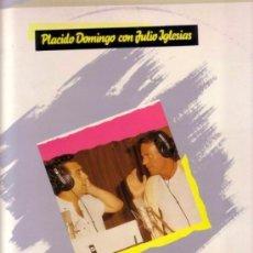 Discos de vinilo: PLACIDO DOMINGO CON JULIO IGLESIAS ( SOÑADORES DE ESPAÑA ) MAXI-SINGLE 1989. Lote 94775651