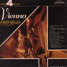 Discos de vinilo: WERNER MULLER AND HIS ORCHESTRA - VIENNA LP LONDON RF-3644 DOBLE PORTADA. Lote 94775919