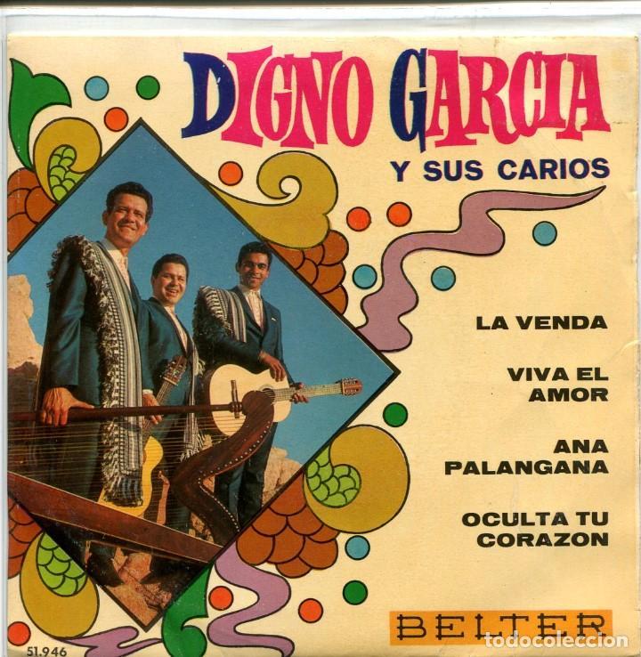 DIGNO GARCIA Y SUS CARIOS / LA VENDA + 3 (EP 1969) (Música - Discos de Vinilo - EPs - Grupos y Solistas de latinoamérica)