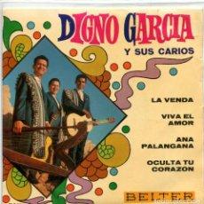 Discos de vinilo: DIGNO GARCIA Y SUS CARIOS / LA VENDA + 3 (EP 1969). Lote 94806719