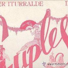 Discos de vinilo: JAVIER ITURRALDE DIRIGE CUPLES MAXI-SINGLE PROMO HISPAVOX 1984. Lote 94809715