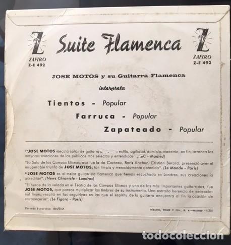 Discos de vinilo: JOSÉ MOTOS - SUITE FLAMENCA - 1963 - VINILO COMO NUEVO - Foto 2 - 94815403
