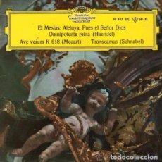 Discos de vinilo: HAENDEL( EL MESÍAS: ALELUYA...) MOZART(AVE VERUM) SCHNABEL(TRANSEAMUS) DEUTSCHE.1963.(SOLO CARATULA). Lote 221233800