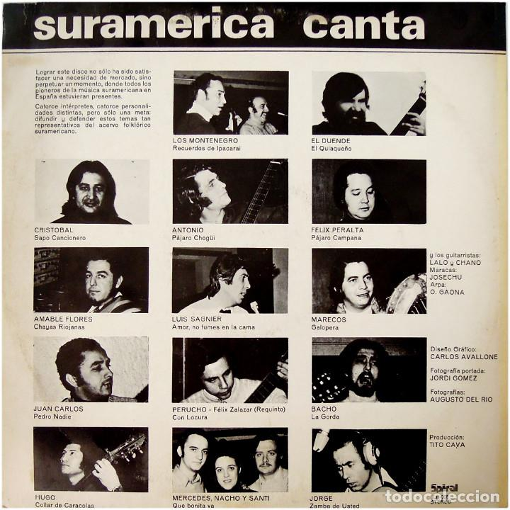 Discos de vinilo: VVAA – Suramerica Canta - Lp Spain 1972 - Spiral LP-005 - Foto 2 - 94816783