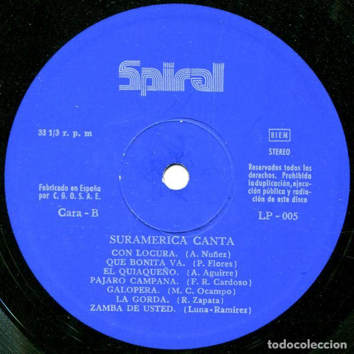 Discos de vinilo: VVAA – Suramerica Canta - Lp Spain 1972 - Spiral LP-005 - Foto 4 - 94816783