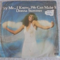 Discos de vinilo: DONNA SUMMER - TRY ME, I KNOW WE CAN MAKE IT / WASTED - SINGLE ARIOLA 1978. Lote 94817311
