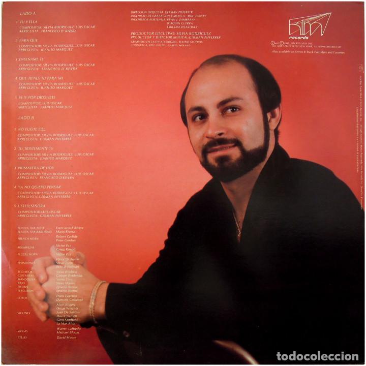 Discos de vinilo: Luis Oscar (Juanito Márquez) - Tú Y Ella - Lp US 1981 - Kim Records K 715 - Foto 2 - 94817847