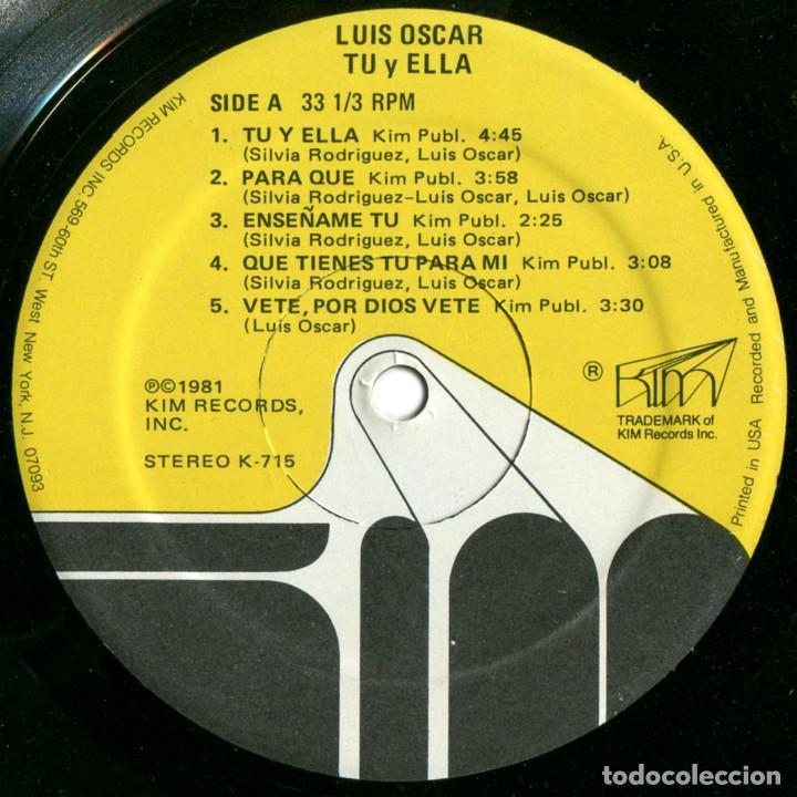 Discos de vinilo: Luis Oscar (Juanito Márquez) - Tú Y Ella - Lp US 1981 - Kim Records K 715 - Foto 3 - 94817847