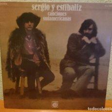 Discos de vinilo: SERGIO Y ESTIBALIZ,,CANCIONES SUDAMERICANAS,1977. Lote 94832319