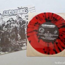 Discos de vinilo: ELEKTRODUENDES, TRAS LA ALAMBRADA. PUNK BARCELONA AÑO 2000. RAREZA ED. LIMITADA VINILO ROJO Y NEGRO. Lote 94844251