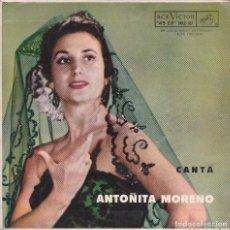 Discos de vinilo: ANTOÑITA MORENO - CANTANDOLE A ESPAÑA - HISTORIA DE UN AMOR + 2 - EP MEXICO. Lote 94864455