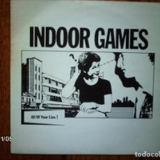 Discos de vinilo: INDOOR GAMES - ALL OF YOUR LIES + TAKE THE PARTY DOWN . Lote 94874071