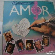 Discos de vinilo: ANTIGUO DISCO LP VINILO - 20 POEMAS DE AMOR - ENVIO INCLUIDO A ESPAÑA. Lote 94907151