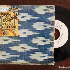 Discos de vinilo: MARIA DEL MAR BONET, LA DESPEDIDA (ARIOLA) SINGLE PROMOCIONAL - CANÇONS DE FESTA. Lote 94930251
