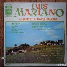 Discos de vinilo: LUIS MARIANO - CHANTE LE PAYS BASQUE . Lote 94934063